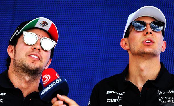 Sergio Pérezin ja Sebastian Oconin välit ovat olleet koetuksella.