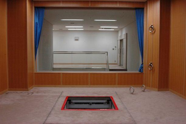Japanin oikeusministeriön vuonna 2010 julkaisema kuva Tokion rangaistuslaitoksen hirsipuusta.