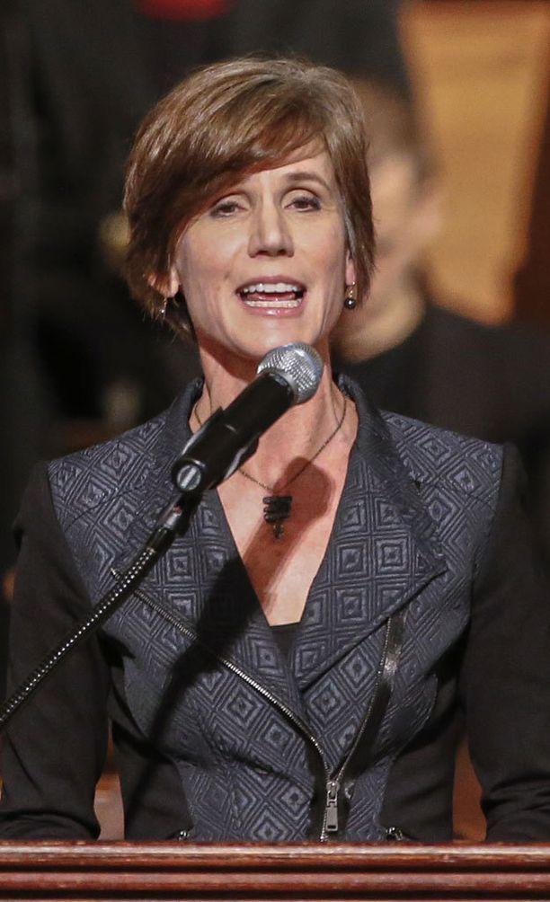 Sally Q. Yates toimii Yhdysvaltain vt. oikeusministerinä siihen saakka, kunnes Donald Trumpin ehdokas oikeusministeriksi saa senaatin hyväksynnän.