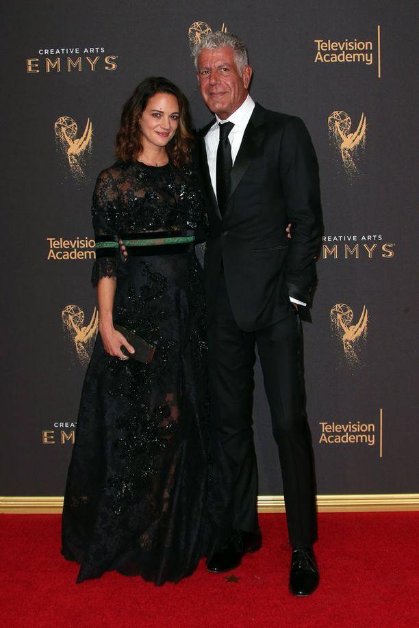 Asia Argento ja Anthony Bourdain tapasivat Bourdainin suositun tv-ohjelman kuvauksissa vuonna 2016.