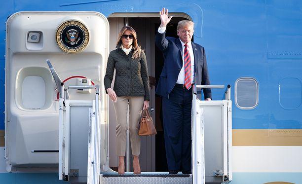 Donald ja Melania Trump saapuvat Suomeen sunnuntai-iltana ja yöpyvät Hilton Kalastajatorpalla.