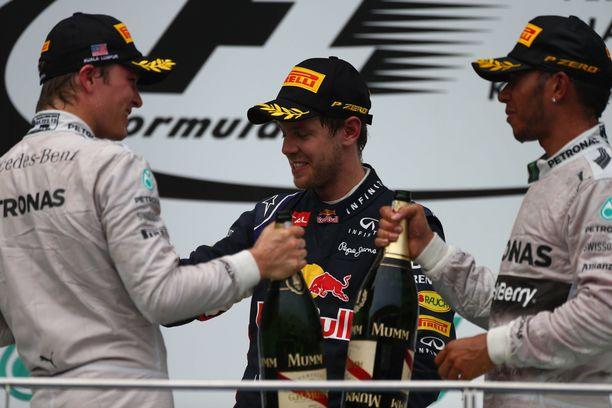 Nico Rosberg, Sebastian Vettel ja Lewis Hamilton jäävät historiaan 2010-luvun ainoina maailmanmestareina.