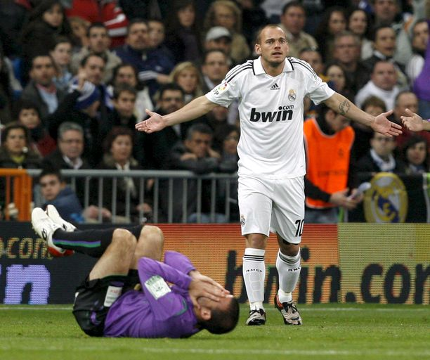 Wesley Sneijder pelasi Real Madridissa kaksi kautta.