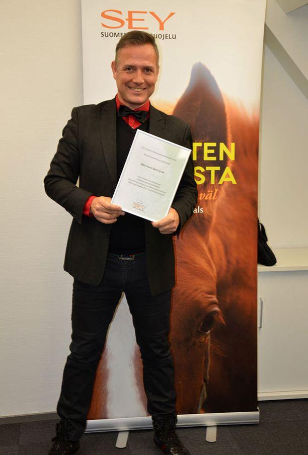 - Tämä oli paras tapa juhlistaa 15-vuotista yritystäni, gaalan järjestäjänä toiminut Marko Björs totesi.