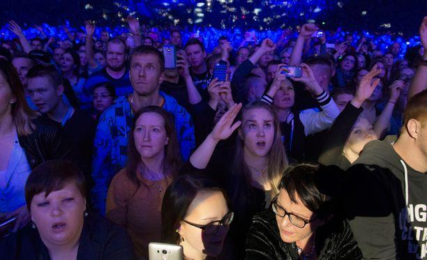 Yleisö eläytyi vahvasti.