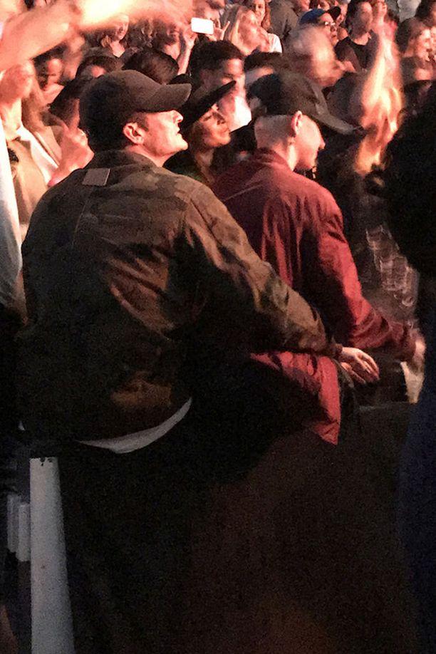 Kaksikko bongattiin Ed Sheeranin konsertissa.