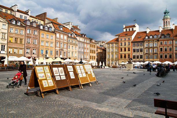 Varsovan vanhakaupunki on Unescon maailmanperintölistalla.