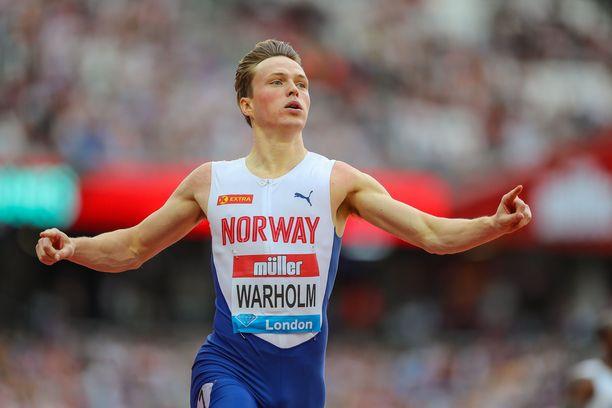 Karsten Warholm teki tällä kaudella 400 metrin aitojen Euroopan ennätyksen.
