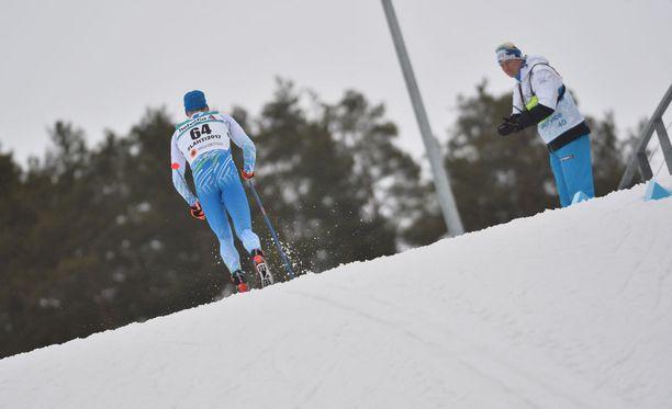 Tämä oli ainoa, mitä Martin Johnsrud Sundby ja muut kilpailijat saivat Iivo Niskasesta nähdä.