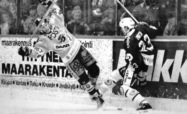 KalPa ja TPS kohtasivat finaaleissa keväällä 1991.