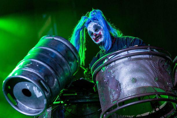 """Shawn """"Clown"""" Crahan on yksi Slipknot-yhtyeen perustajajäsenistä."""