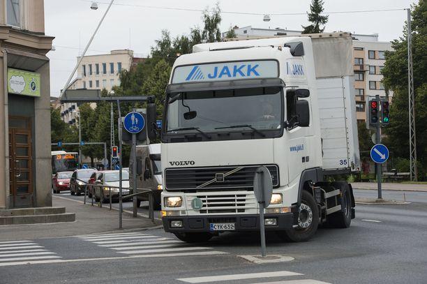 JAKKissa annettiin koulutusta mm. kuorma-auton kuljettajille.