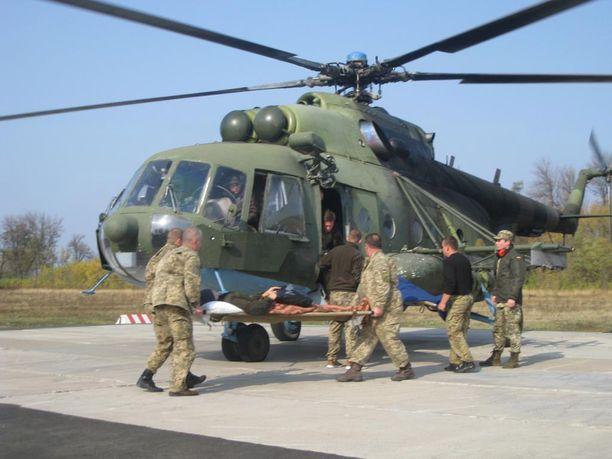 Mobiilista sotasairaalasta evakuoidaan edelleen lähes päivittäin haavoittuneita sotilaita.