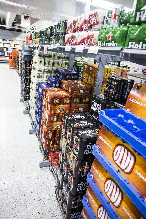 Keskioluttölkin hinta nousee kaupassa 7 senttiä 2018.