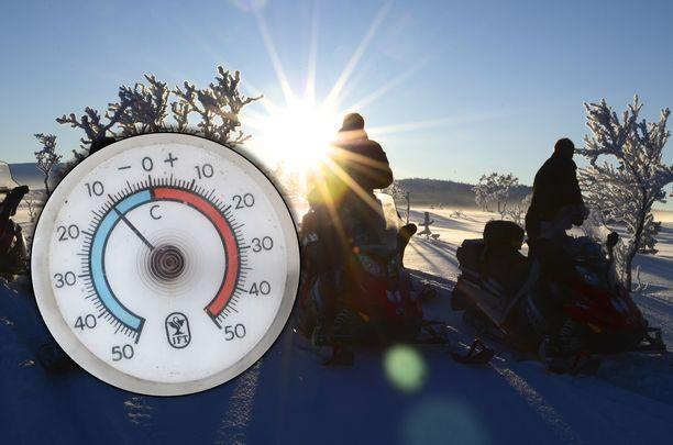 Lämpötila nousee ja kohisten etenkin Lapin Muoniossa, jossa oli vielä aamulla paukkupakkanen, mutta iltapäivällä nollan alla oltiin enää kymmenen asteen verran.