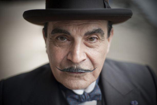Tältä näyttää David Suchet Hercule Poirot'n viiksissä.