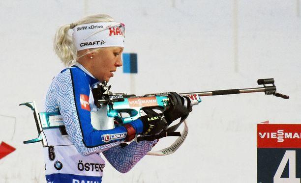 Kaisa Mäkäräinen kilpailee Korean olympiakisoissa vain leipälajissaan ampumahiihdossa.