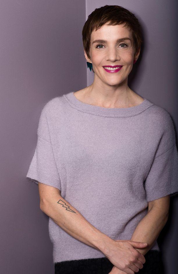Maria Veitola kertoi haastattelun lopuksi saaneensa voimaa Martinalta.