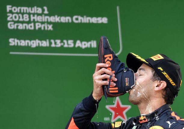 Daniel Ricciardo on voittanut nyt 6 F1-osakilpailua.