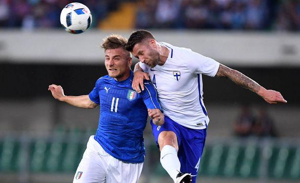 Joona Toivio pelasi kesäkuussa Italiaa vastaan.