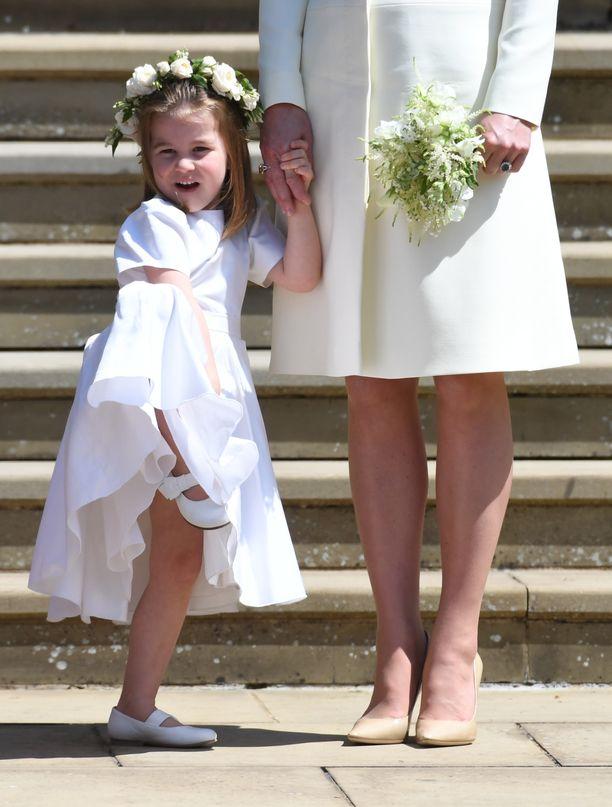 Prinsessa Charlotte oli viime keväänä setänsä prinssi Harryn häissä kukkaistyttönä.