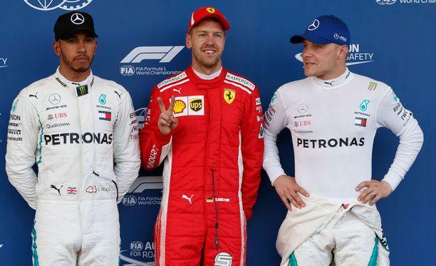 Valtteri Bottas lähtee Azerbaidzhanin GP:hen toisesta rivistä Lewis Hamiltonin ja Sebastian Vettelin takaa.