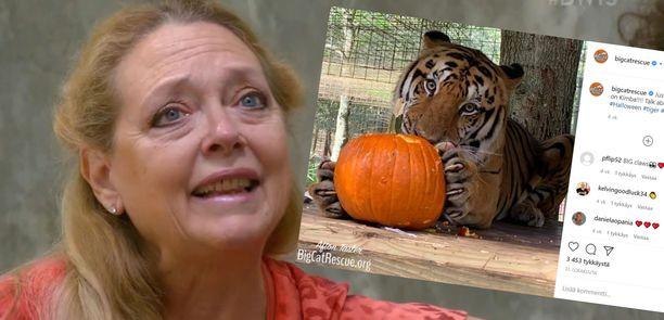 Kuvassa eläintarhan omistaja, Carole Baskin.