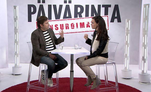 Janne Kataja joutui Susanne Päivärinnan Napakymppi-testiin.