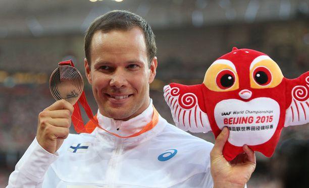 Tero Pitkämäki nappasi yleisurheilun MM-kisoissa 2015 itselleen pronssisen mitalin.