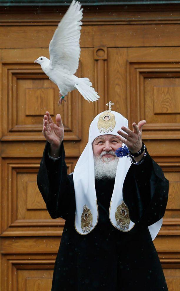 Venäjän ortodoksikirkon päämies patriarkka Kirill.