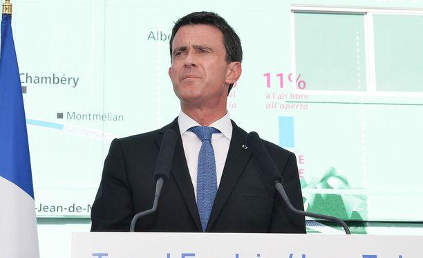 Ranskan pääministeri Manuel Valls.