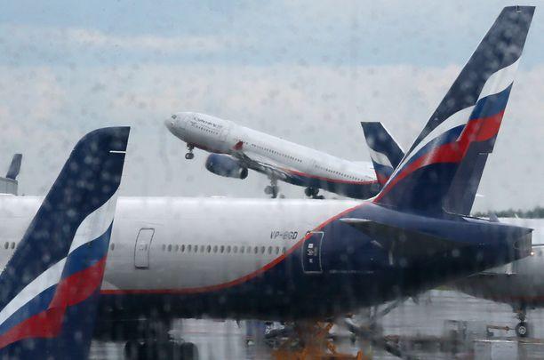 Moskovan Sheremetjevon lentokenttä on on Moskovan ja koko Venäjän toiseksi suurin kansainvälinen lentoasema. Kuvituskuva.