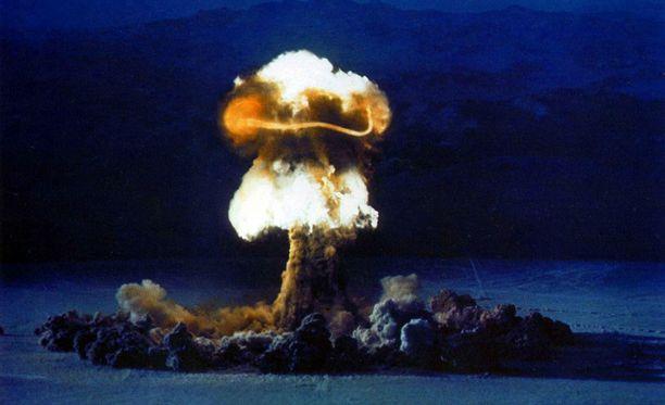 Yhdysvallat teki 210 ydinkoetta ilmakehässä. Viimeinen koe tehtiin vuonna 1962.