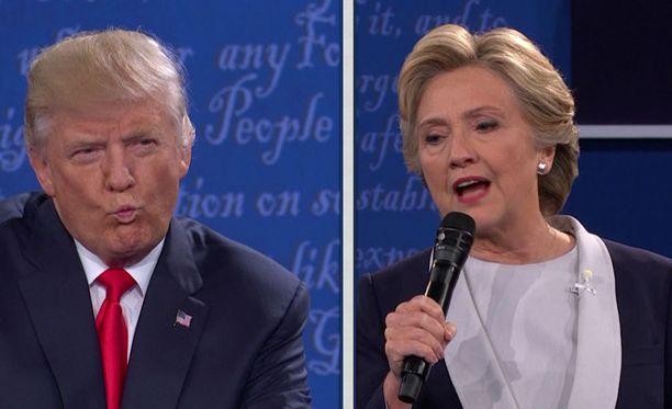 Trump ja Clinton ovat kohdanneet toisensa väittelyssä aikaisemminkin.