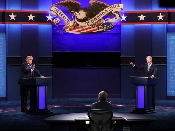 Joe Biden ja Donald Trump kohtaavat toisensa tv-väittelyssä 20. lokakuuta.
