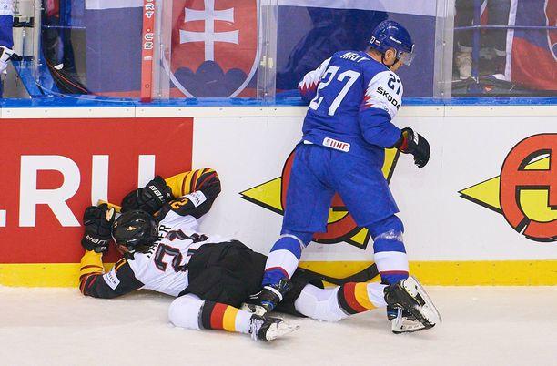 Ladislav Nagyn raju selkääntaklaus päätti mitä varmimmin Moritz Seiderin kisat.
