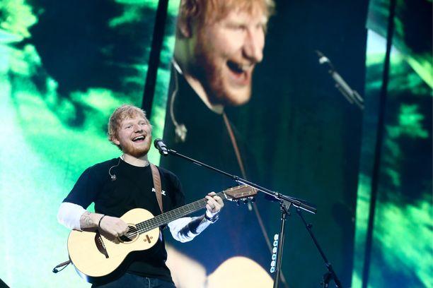 Ed Sheeran esiintyy Suomessa ensimmäistä kertaa ensi viikolla. Kuva Sheeranin Moskovan-konsertista viime perjantaina.