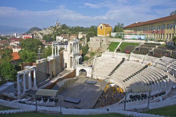Plovdivin roomalaisaikainen amfiteatteri on hyvässä kunnossa.
