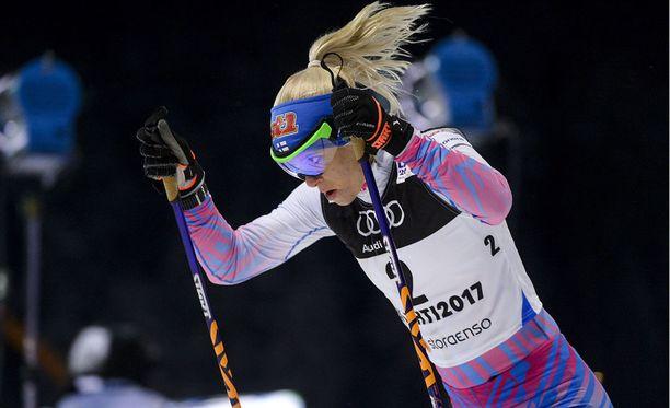 Mari Laukkanen oli Lahden MM-sprintin kahdeksas.