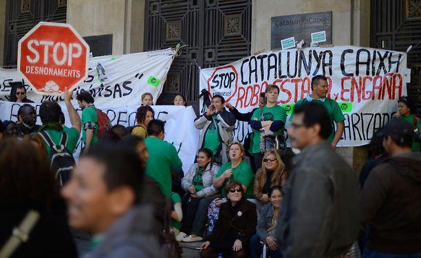 Mielenosoitus Espanjassa.