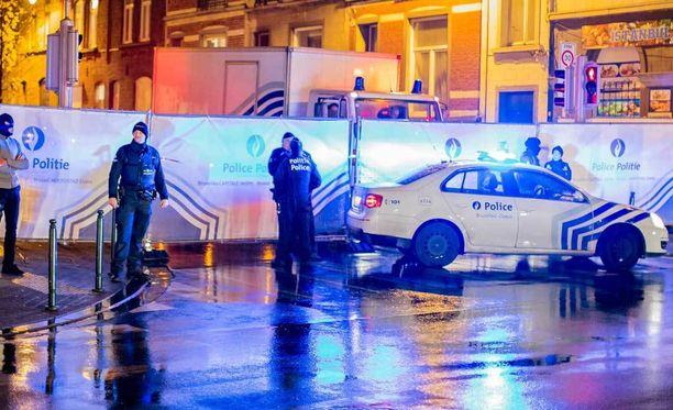 Poliisi suoritti useita pidätyksiä Brysselissä.