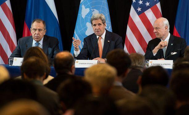 Syyrian sotatoimien pysäyttämisestä sovittiin viime yönä Münchenissä käydyissä neuvotteluissa.