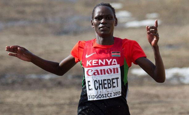 Emily CHebet sai neljän vuoden dopingpannan.