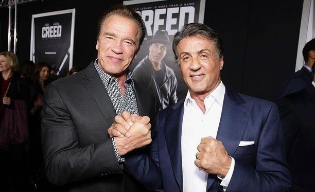 Arnold Schwarzenegger ja Sylvester Stallone ovat ystävyksiä vuosien takaa.