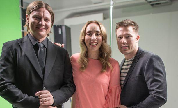 Jaajo Linnonmaa, Anni Hautala ja Juha Perälä.
