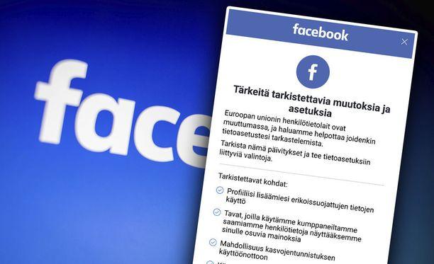 Facebookia käyttävien on hyväksyttävä uudet käyttöehdot.