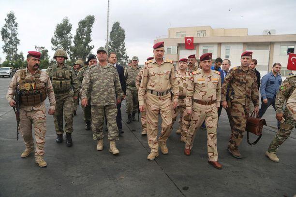 Turkin ja Irakin sotilasjohtoa tapasi tällä viikolla Ibrahim Khalilin raja-asemalla.
