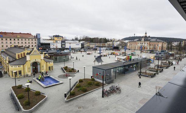 Kuvituskuva Kuopion keskustasta.