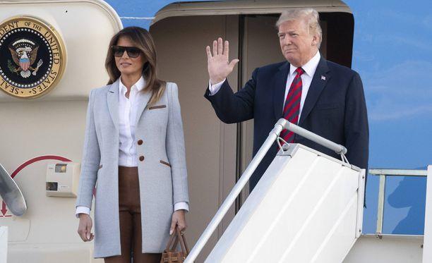 Melania ja Donald Trump saapuivat Suomeen illalla 15. heinäkuuta.