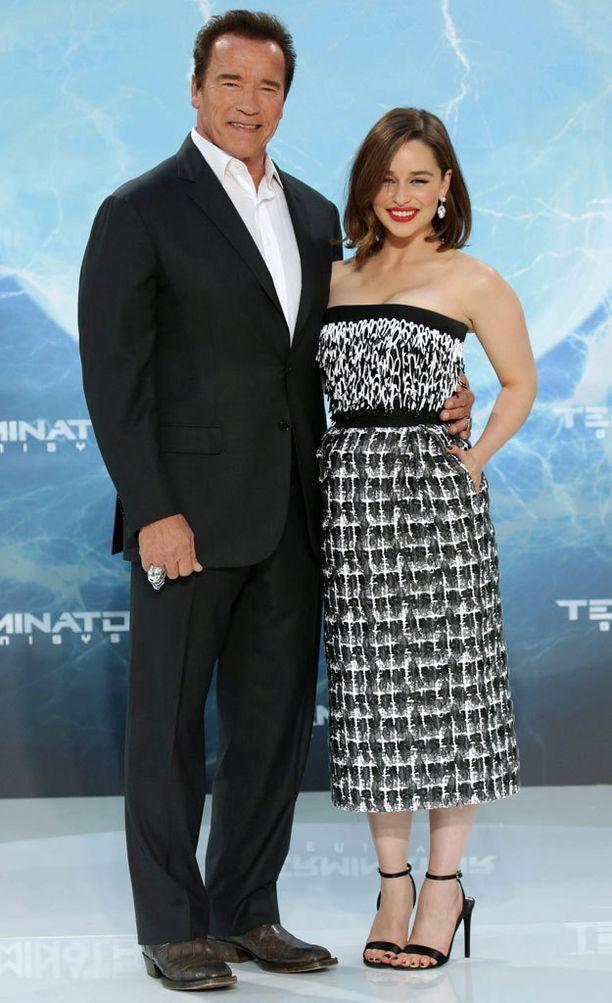 Clarke näyttelee Terminator Genesys -elokuvassa naispääosaa.